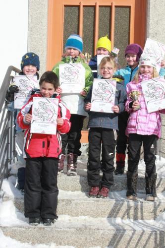 2012 02 11Bezirkskinderlanglauf in Blasiwald